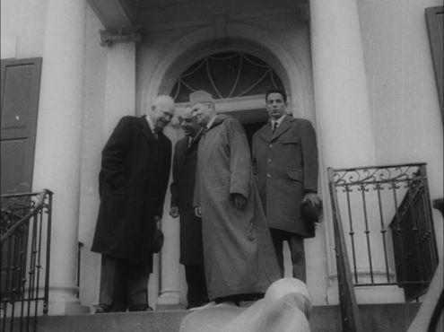 Le roi Mohammed V reçu à Washington par le président Dwight Eisenhower en 1957. / Ph. Frampool