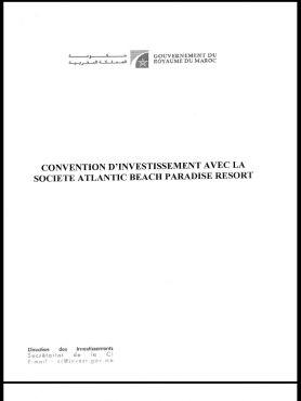 Une copie de la première page de la convention présentée aux clients en 2007.