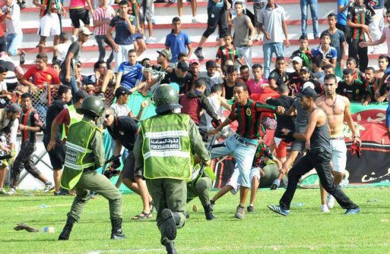 Scènes de violence des supporters des FAR / DR