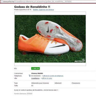 Un internaute, qui se fait passer pour le joueur Vianney Mabidé, a publié une annonce sur le site de vente en ligne Avito.