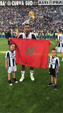 Medhi Benatia est désormais champion d'Italie avec son équipe Juventus de Turin depuis dimanche soir. / Ph. Facebook