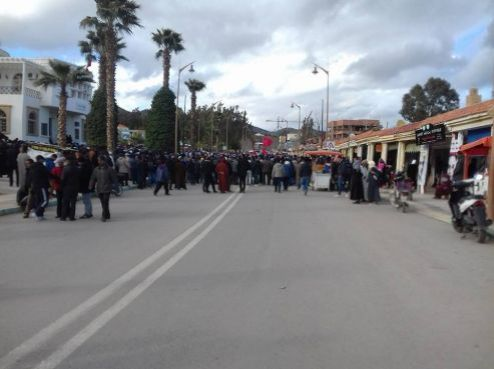 Morocco : Women in Jerada took their anger to the streets on Women's Day