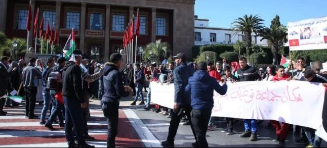 Reportage au coeur de la marche de soutien au peuple palestinien à Rabat [Photos & vidéo]