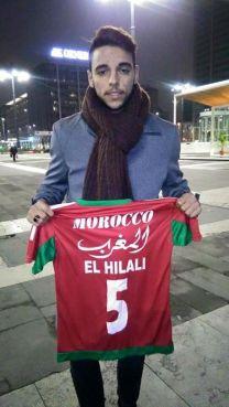 Le joueur a publié début janvier sur son compte facebook un maillot de l'équipe nationale avec son nom