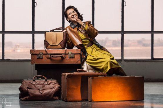 Fathia El Aouni, égérie de la deuxième collection. / Ph. AD Fashion Studio