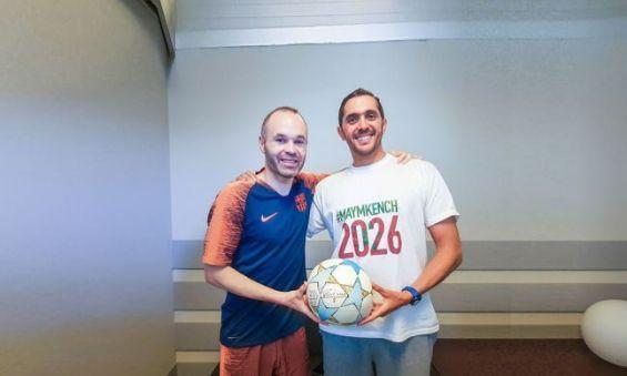 #MAYMKENCH2026 : Saad Abid à la rencontre d'Andrés Iniesta