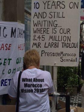 Affaire Paradise Beach : Nouvelle manifestation devant le Consulat du Maroc à Londres