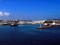 Vue sur le port de Tanger alt=