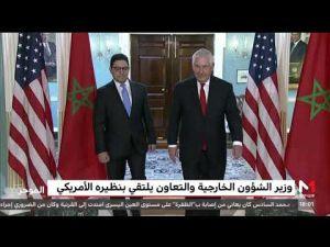 ناصر بوريطة يجري مباحثات بواشنطن مع كاتب الدولة الأمريكي ريكس تيليرسن