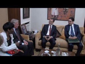 العثماني يستقبل المبعوث الشخصي للأمين العام للأمم المتحدة إلى الصحراء