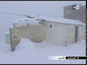 الثلوج تشل الحركة بجماعة ايساكن التابعة للحسيمة