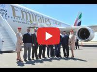 Apres un premier blocage, le A380 d'Emirates atterrit à Casablanca