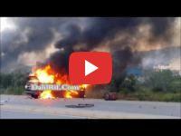 Province d'Al Hoceima : Des jeunes mettent le feu dans des véhicules de la police
