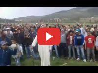 Rif : Sit-in devant l'hélicoptère transportant le ministre de l'Intérieur