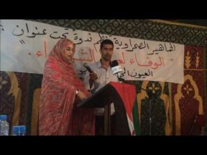 Laayoune : Aminatou Haidar allowed to commemorate the death of Mohamed Abdelaziz