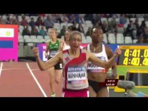 Sanaa Benhama remporte à Londres la médaille d'or du 1500 m des