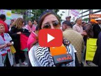 Maroc: Sit-in de solidarité avec la Palestine devant le consulat américain