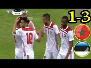2018 World Cup : Morocco defeats Estonia 3-1 in a friendly