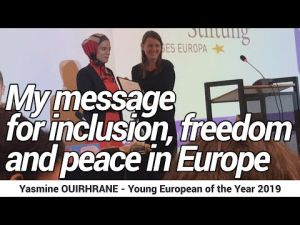 Moroccan-Italian Yasmine Ouirhrane receives the Young European of the Year award