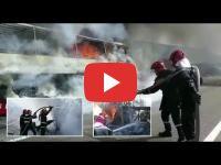 طنجة: احتراق حافلة لنقل مسافرين قادمة من أوروبا