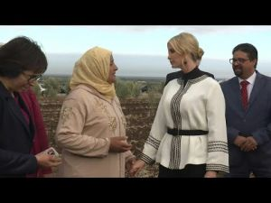 Morocco : Ivanka Trump meets female land owners in an olive field in Sidi Kacem