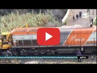 اصطدام قطار بعربة صيانة قرب مدينة فاس