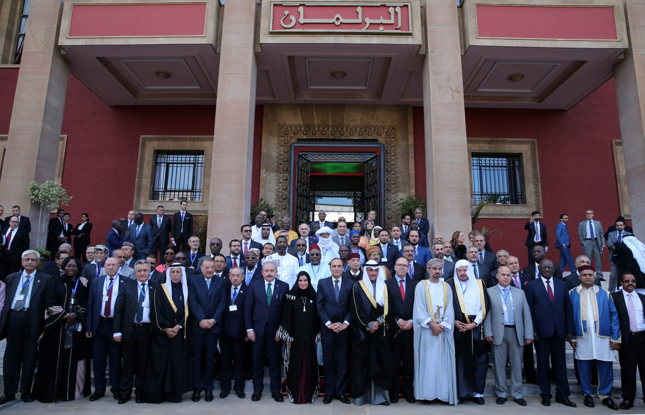 Photo de famille de l'Union des parlements de l'OCI à Rabat / Ph. MAP