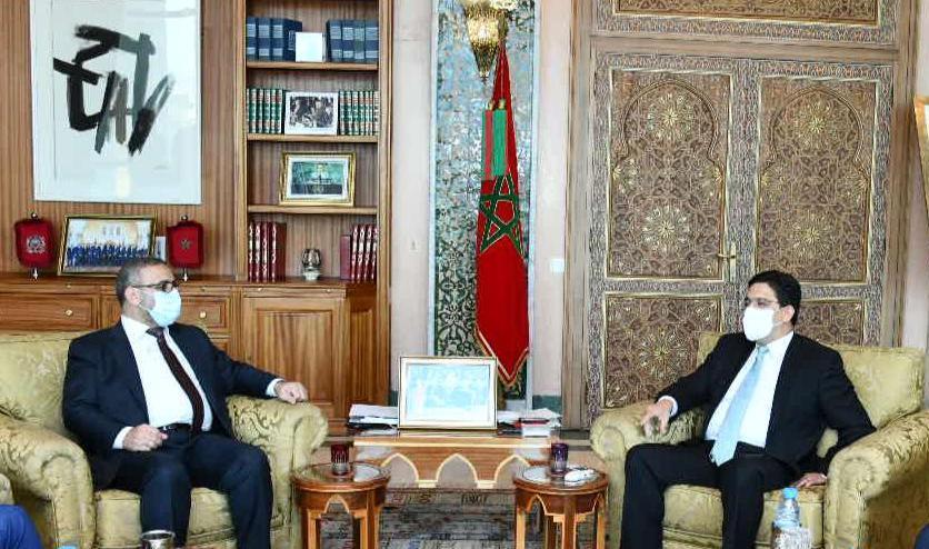 Khalid Al Michri avec Nasser Bourita / Ph. MAECI