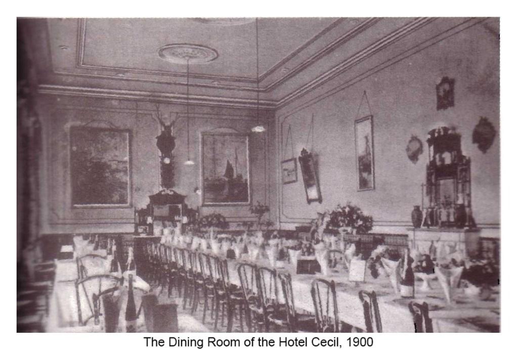 Un salon de l'hôtel Cecil. / Ph. DR