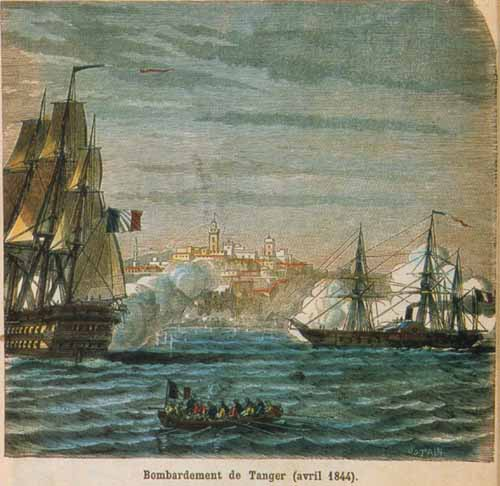 The bombardment of Tangier on the 6th of August 1844./Ph. DR