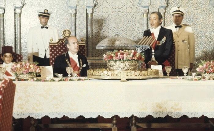 Le roi Hassan II avec le président français Valéry Giscard d'Estaing. / DR