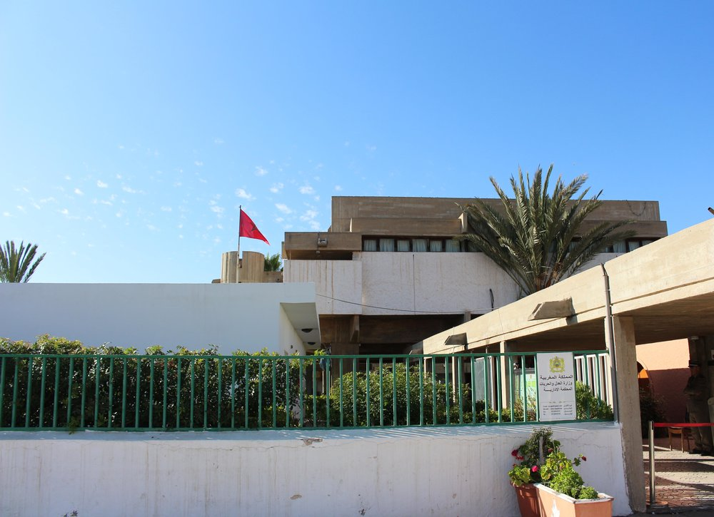 Le tribunal administratif d'Agadir, conçu par Azagury / Ph. MAMMA M. MESLIL 2018