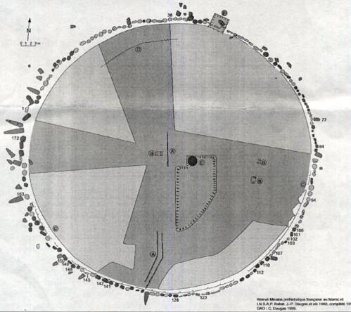 Plan général du site de Mzora. / Ph. Mission préhistorique française au Maroc et INSAP