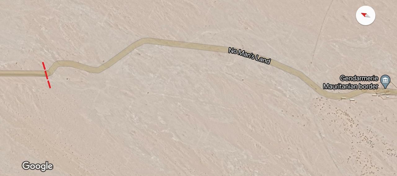 Tronçon non goudronné jusqu'au poste-frontière mauritanien. / DR