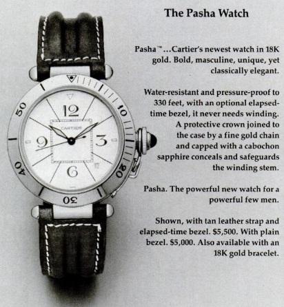 The Pasha watch. / Ph. DR