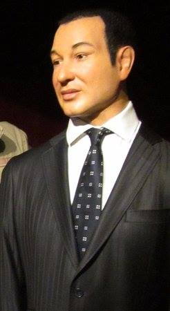 King Mohammed VI's former wax figure at the Musée Grévin in Paris, France./Ph. DR