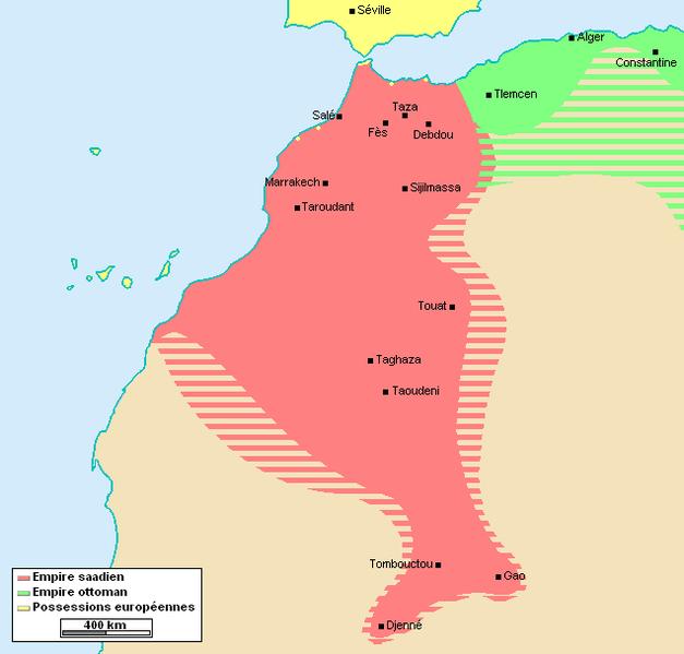 Le royaume chérifien lors des années de gloire de la dynastie saadienne. / Ph. DR