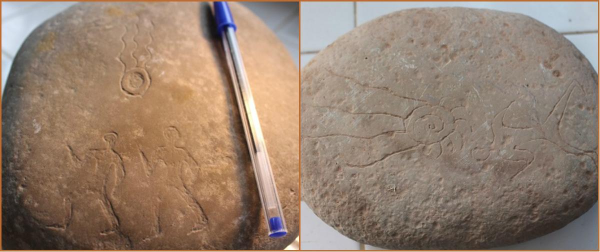 Ida 1 et Ida 2 découvertes dans la région de Tiwrare (village rural d'Ida Oukazzou). / Photomontage