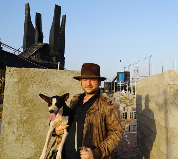 German activist and light artist Oliver Bienkowski. / Ph. PixelHelper