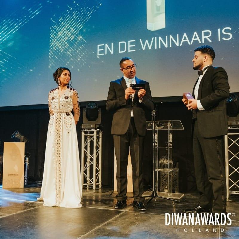 Ahmed Larouz lors des Diwan Awards Holland 2019, organisé le weekend dernier aux Pays-Bas . / Ph. Jaap Kroon - Diwan Awards Holland