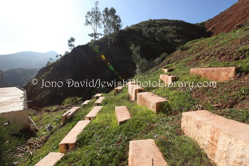 Le cimetière juif à Ait Ourir. / Ph. Jano David - Jewish Photo Library