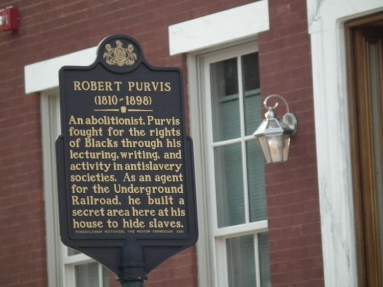 La maison de Robert Purvis sera rénovée pour lui rendre hommage. / Ph. alchetron.com