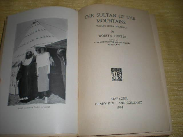 The Sultan of the Mountains, His Life Story as Told to Rosita Forbes