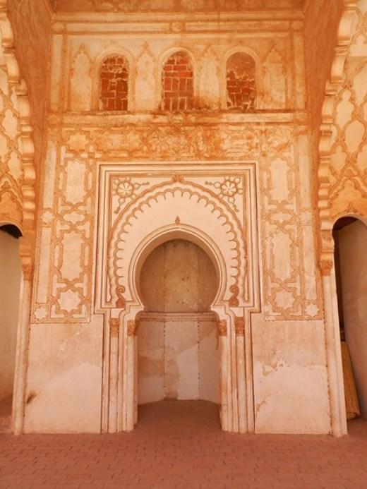 Le mirhab de la mosquée de Tinmel. / Ph. DR