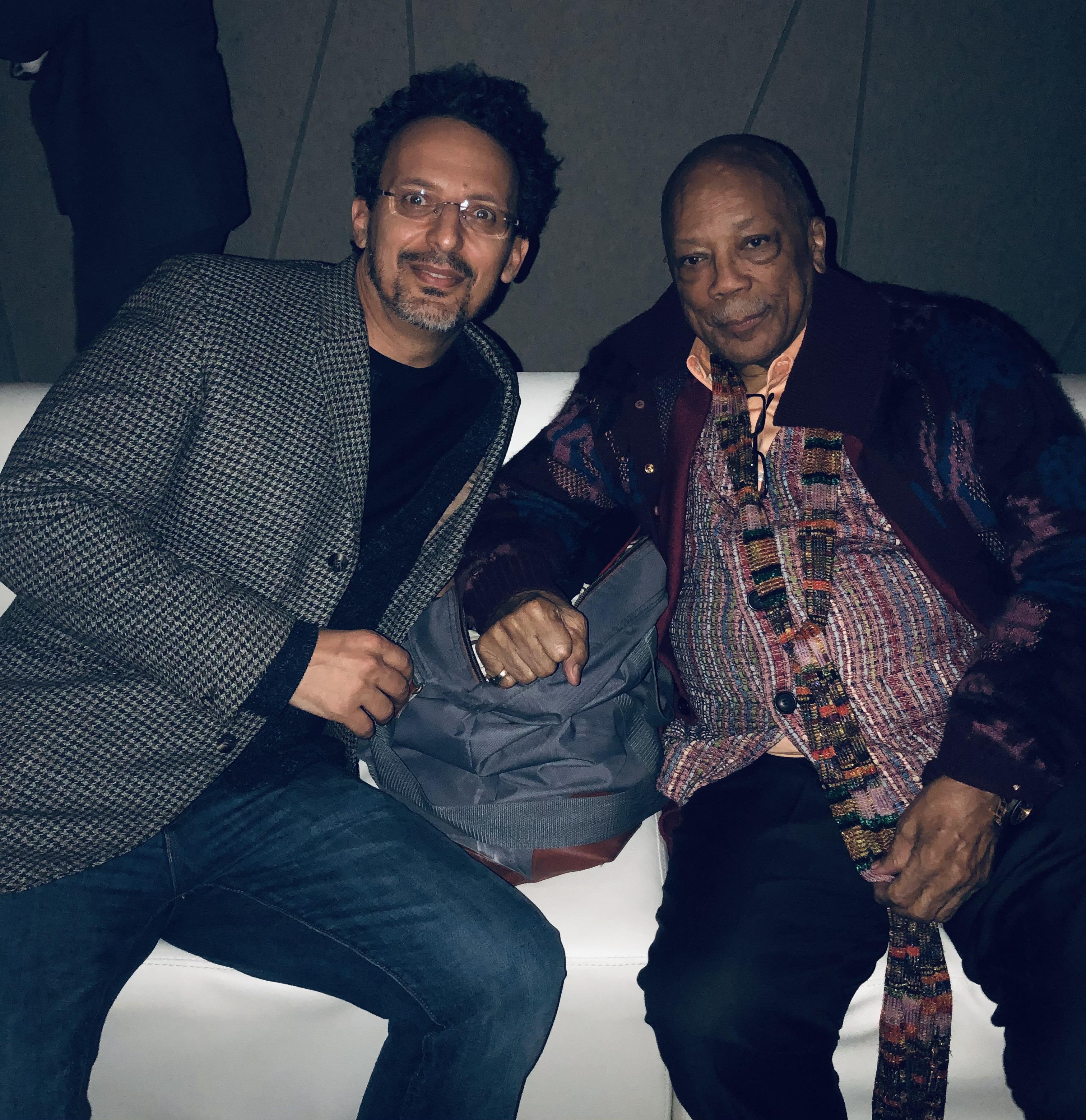 Hisham Aidi with American record producer Quincy Jones. / DR