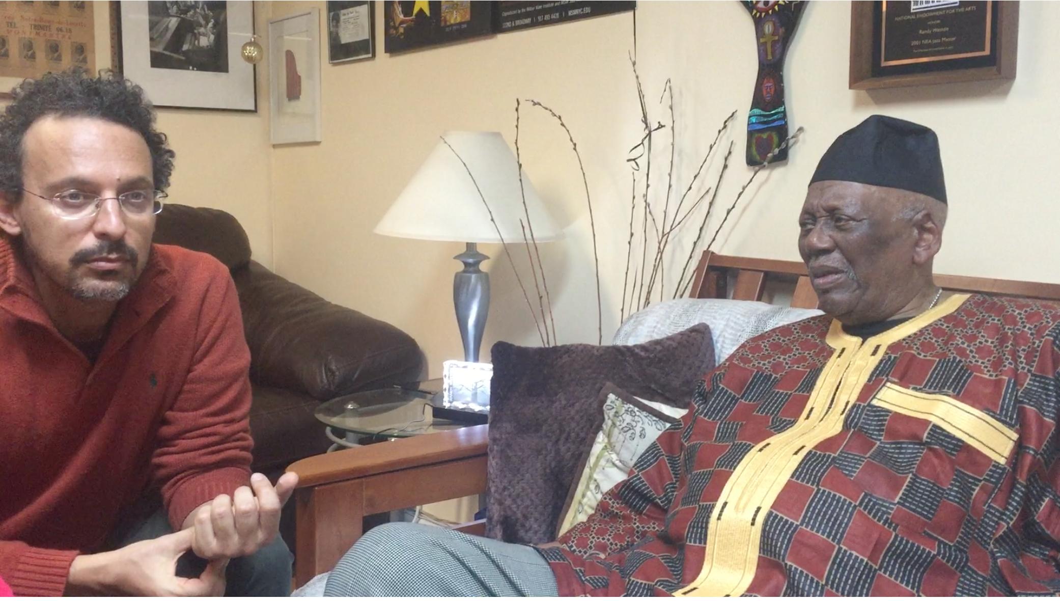 Hisham Aidi with randy wiston. / DR